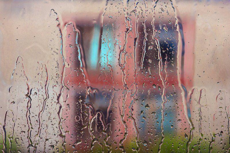 Город природа, Дождь, Окна, Стекло Дождьphoto preview