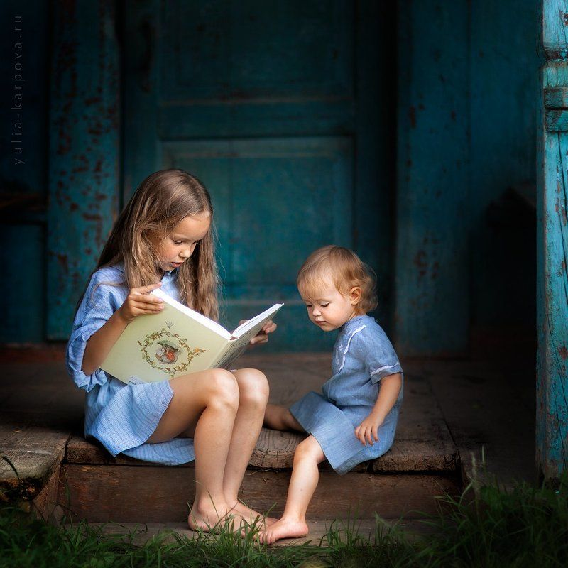child, children, family, sisters, summertime, fairytales ***photo preview