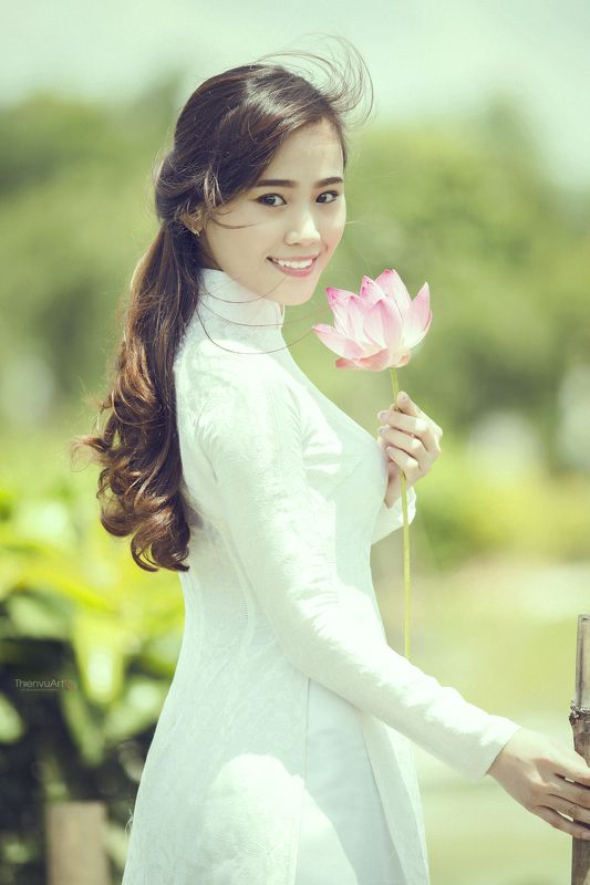 #lotus #girl #young #flowers #august #landscape Lotus in Augustphoto preview