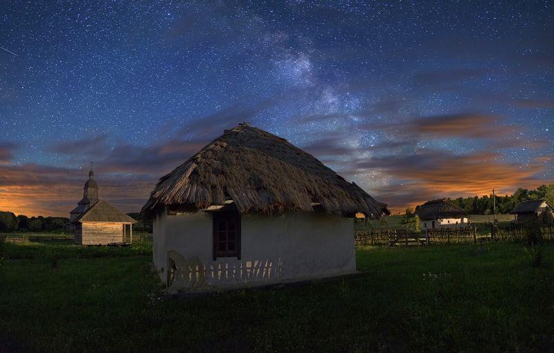 night, stars, milky way, clouds, звезды, млечный путь, ночь, облака cloudy nightphoto preview