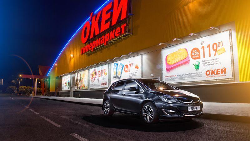 автомобиль, ночь, улица, город, пейзаж, вспышка Astra Jphoto preview