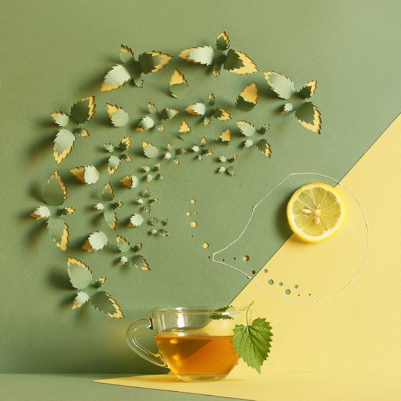 Чай с мятой и лимономphoto preview