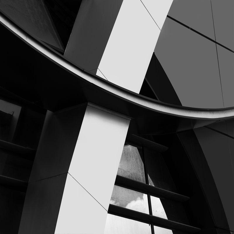 Architecture, Black, Black & white, Black and white, Building, Архитектура, Геометрия, Здание, Черно-белое, Черное ARCHITECTUREphoto preview