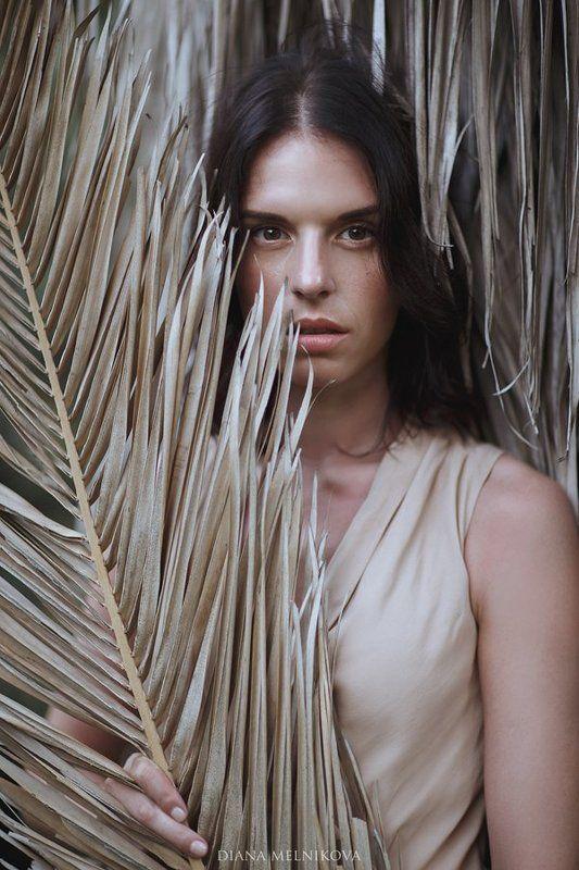 девушка лето пальма ***photo preview