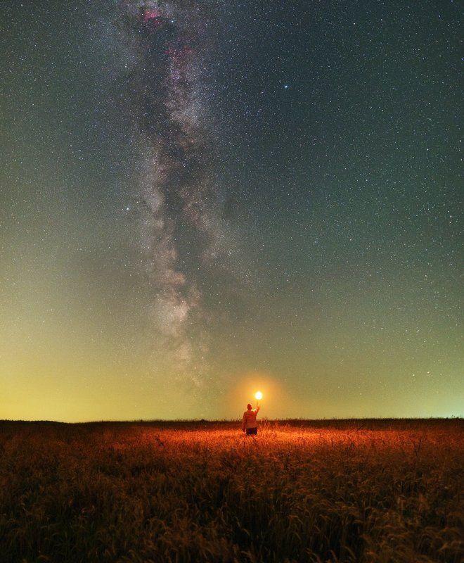 Млечный путь, Космос, подмосковье На встречу Млечному путиphoto preview