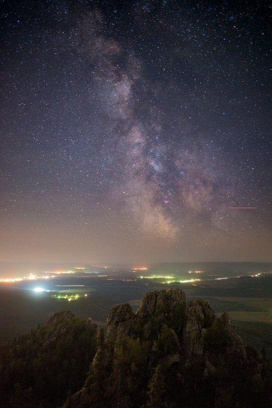 Южный Урал, Белорецк, Малиновая, АстроФото, Млечный путь Ночь на высоте 1152 метраphoto preview