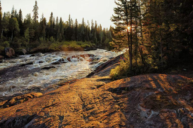 закат,река,пейзаж,тумча На закатеphoto preview