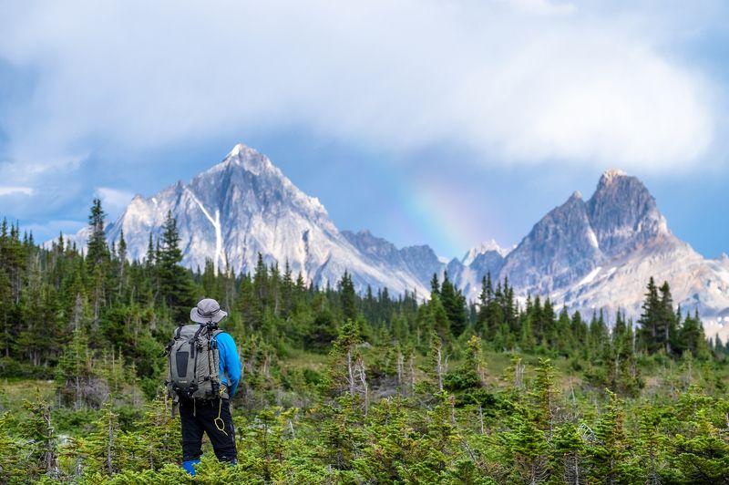 canada, alberta, jasper, rainbow, mountains, tonquin За радугойphoto preview