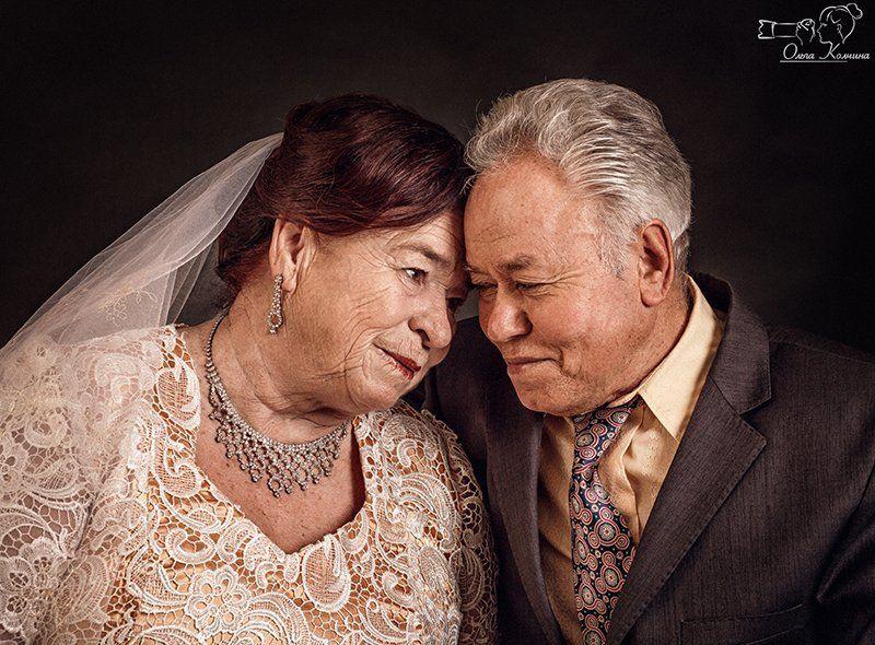 бабушка и дедушка, золотая свадьба, любовь, любовь сквозь года, свадьба, студийная сьемка Золотая свадьбаphoto preview