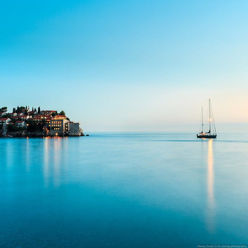 seascape,sea,blue,night,island,ship,boat,summer,water Sail awayphoto preview