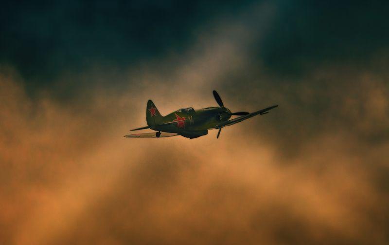 авиация, война, зарево, миг-3, небо, самолёт, reconstruction, Небо войныphoto preview