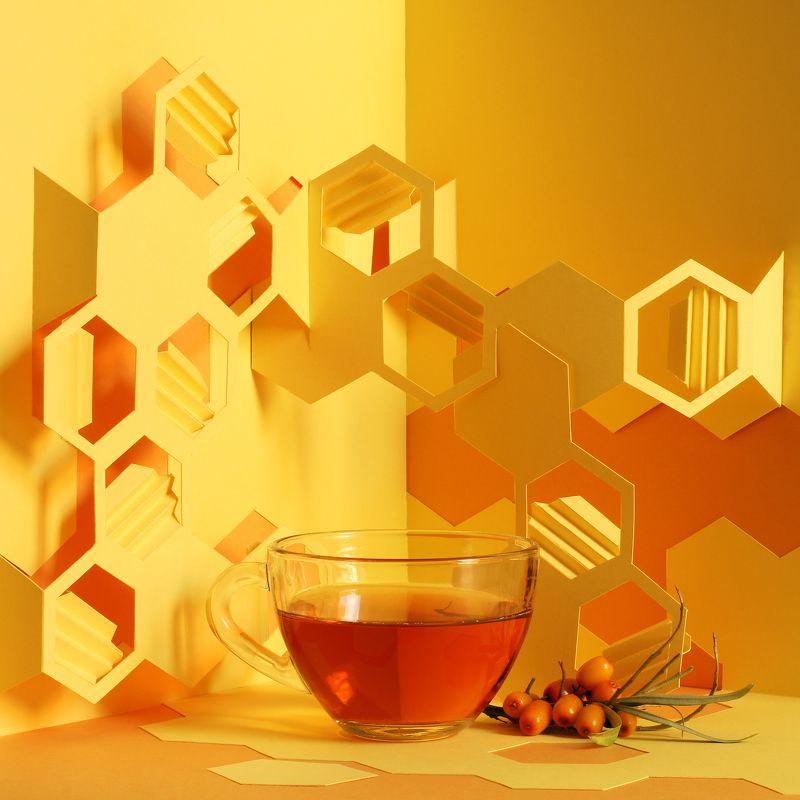 Чай с медом и облепихойphoto preview