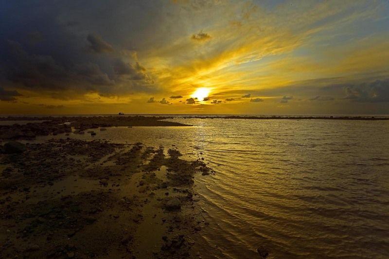 море, закат, солнце, вода вечерние зарисовкиphoto preview