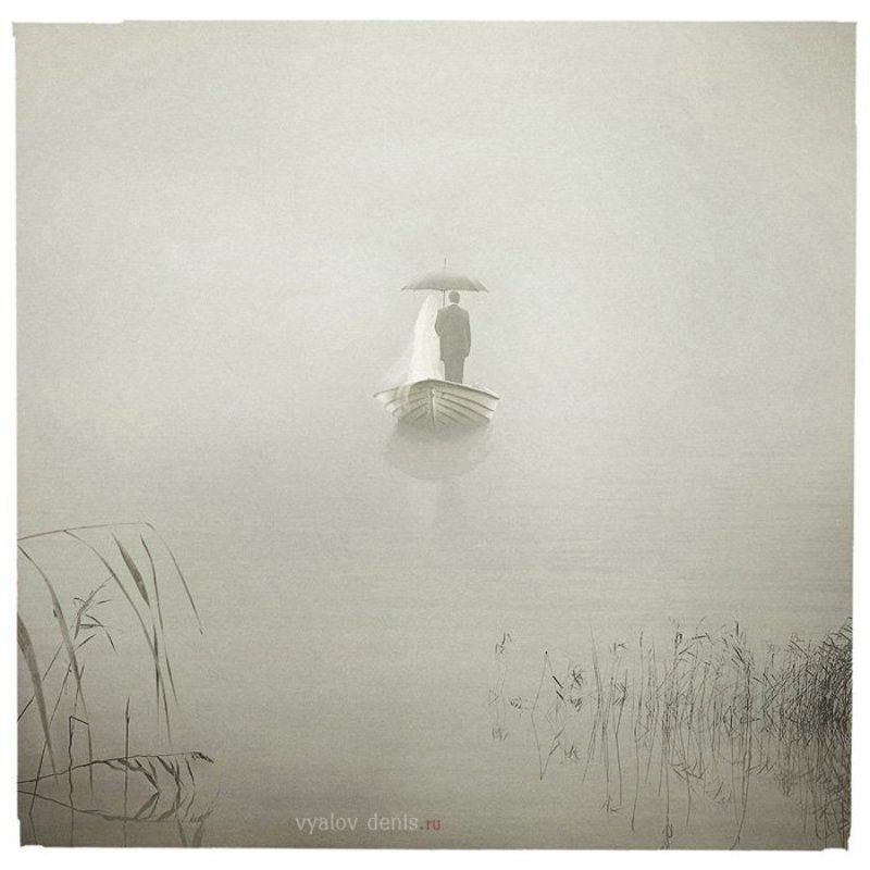 лодка, озеро, туман Сны о замужестве Элеоноры Крохенбауэрphoto preview