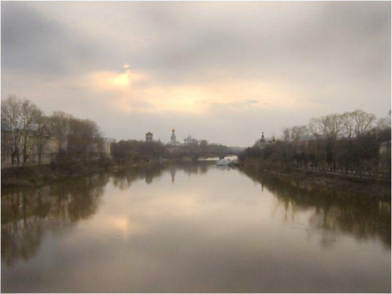 река Акварельный закатphoto preview