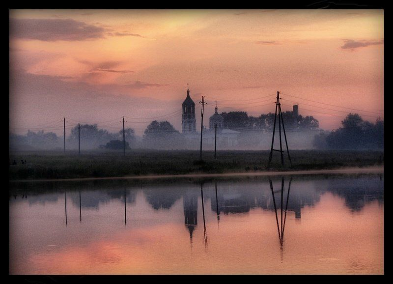 пейзаж, eddimar А розовый плывет закат… и ландыши поют вздыхая…photo preview