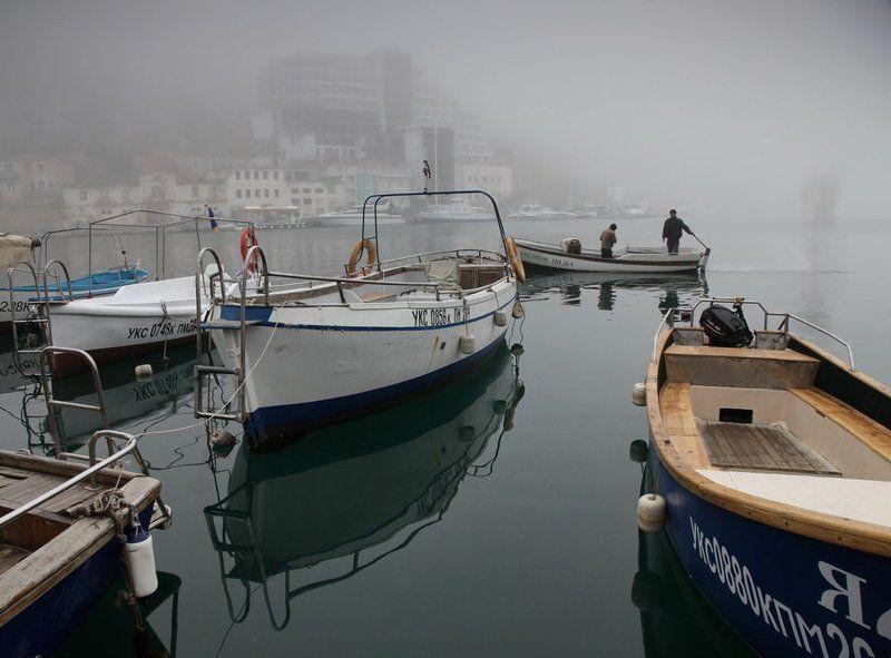 утро,туман утро Балаклавы-2photo preview