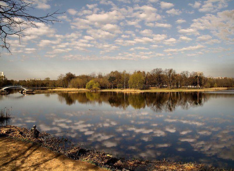 пруды,облака,весна,апрель photo preview