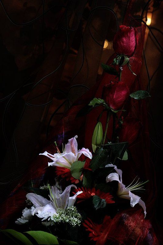 световая, кисть, цветы Аромат в ночи сильнее.. Ежли ночь вокруг темнее...photo preview
