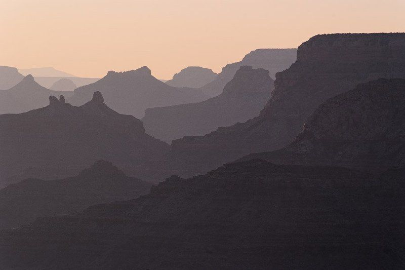 гранд-каньон, аризона, сша, 2010 Вечерний Гранд-Каньонphoto preview