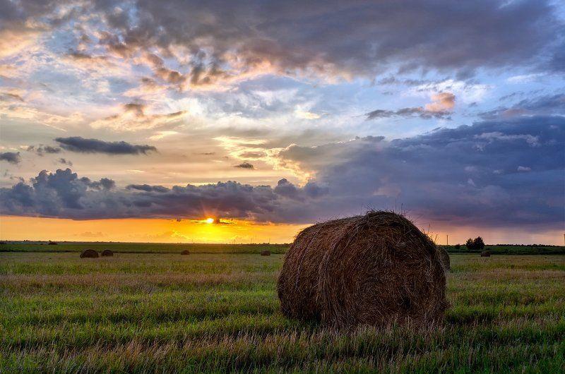 вечер,закат, поле, солнце ***photo preview