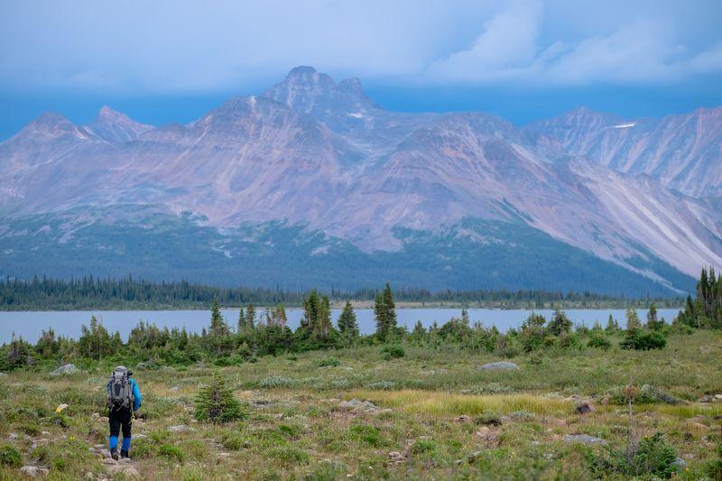 Canada, Alberta, Jasper, Tonquin, mountains Путникphoto preview
