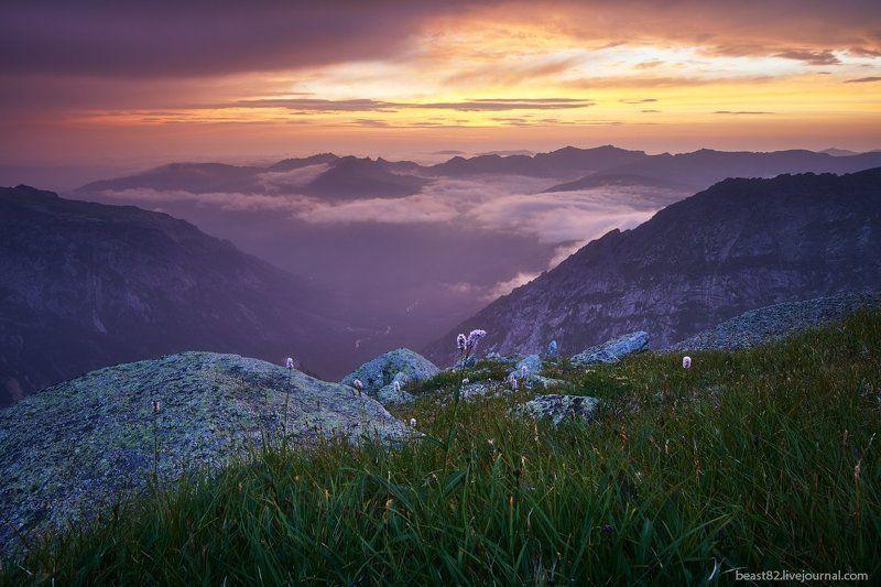 Ергаки Рассвет над долиной Тайгишаphoto preview