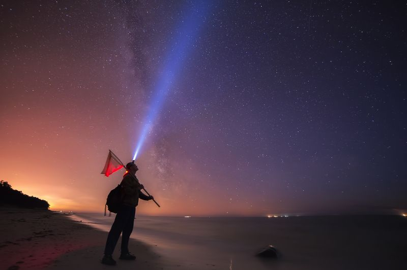 Baltic sea, Long exposure, Milky way, Night, Portrait, Stars Dreamsphoto preview