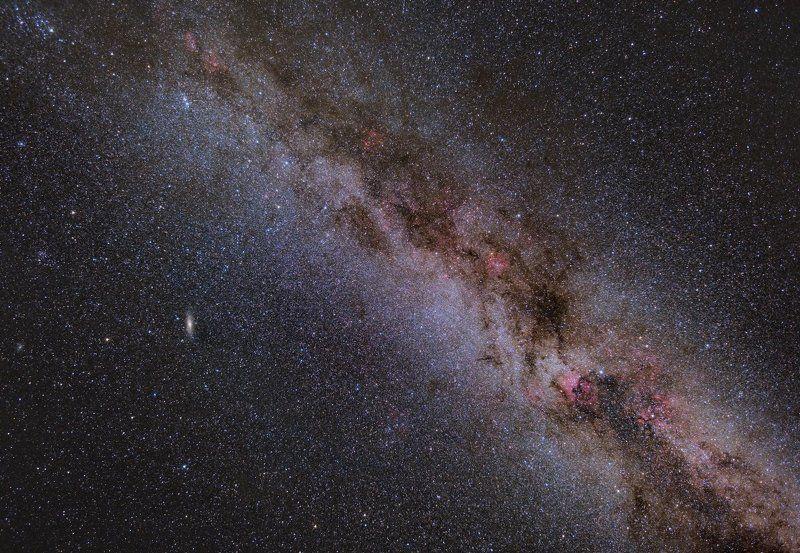 Млечный Путь, Космос, Туманности, Ионизированный водород, Подмосковье Небо в алмазахphoto preview