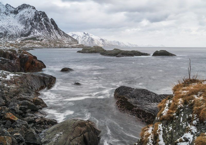 Норвегия Лофотены море камни пейзаж пентакс 645Z ***photo preview