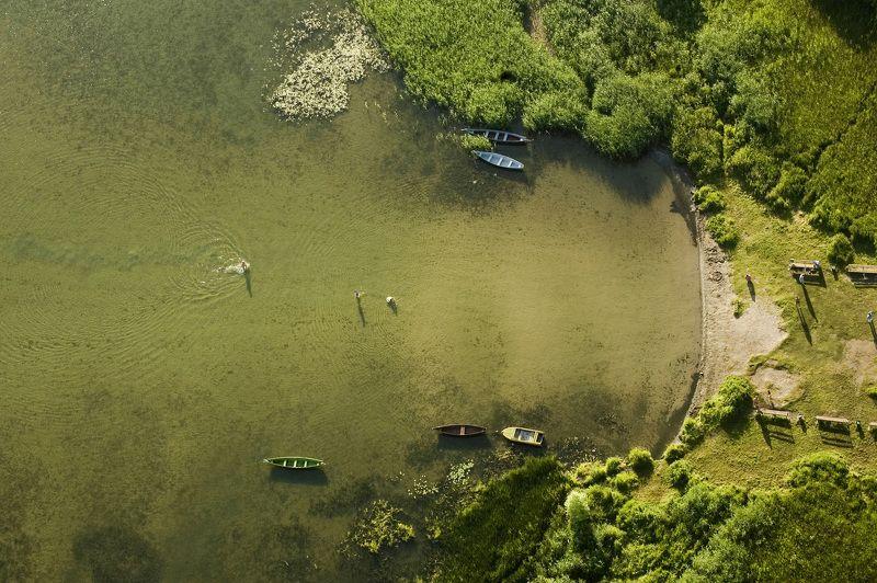 Раннее утро над Плещеевым озером Переславского района Ярославской области.photo preview