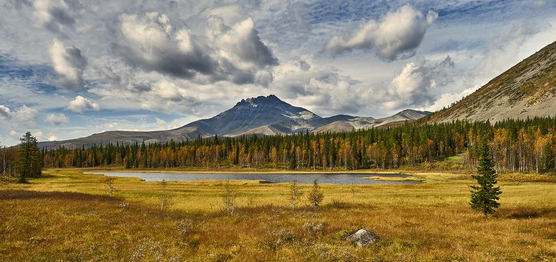 пейзаж гора озеро осень приполярный Урал sony a7r Манарагаphoto preview