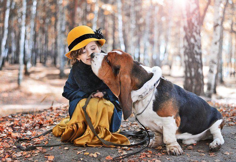 Дети, Дети вечная тема Дама с собачкойphoto preview