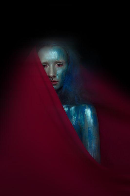Art, Art photo, Blue, Bluehair, Color, Colorful, Colors, Fine art, Painting M E R M A I Dphoto preview