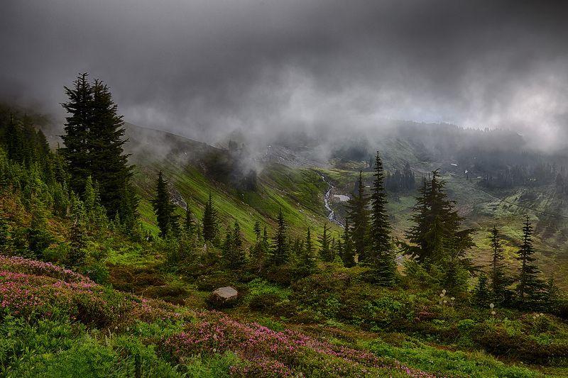 Горы, Облака, Свет, Утро Утро в горахphoto preview