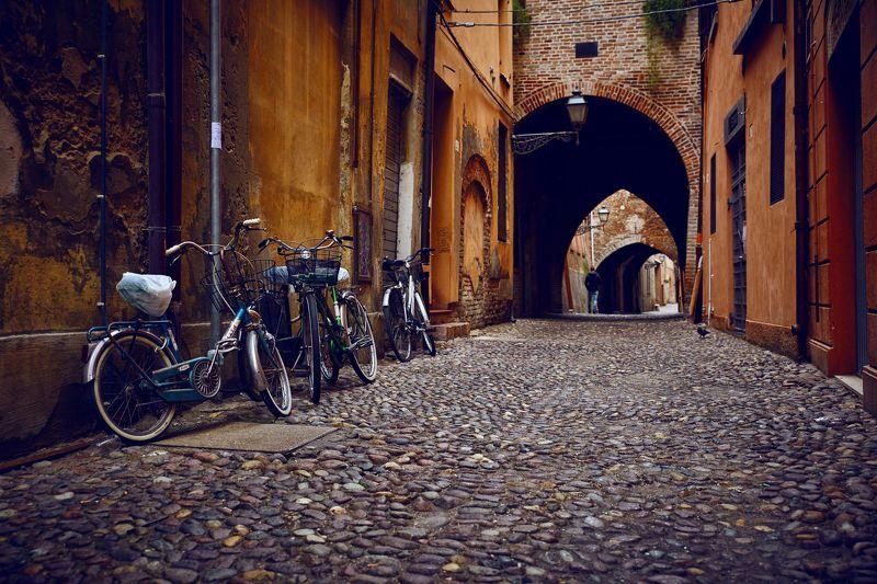 Италия, Феррара, путешествия, улица, город, велосипед Феррараphoto preview