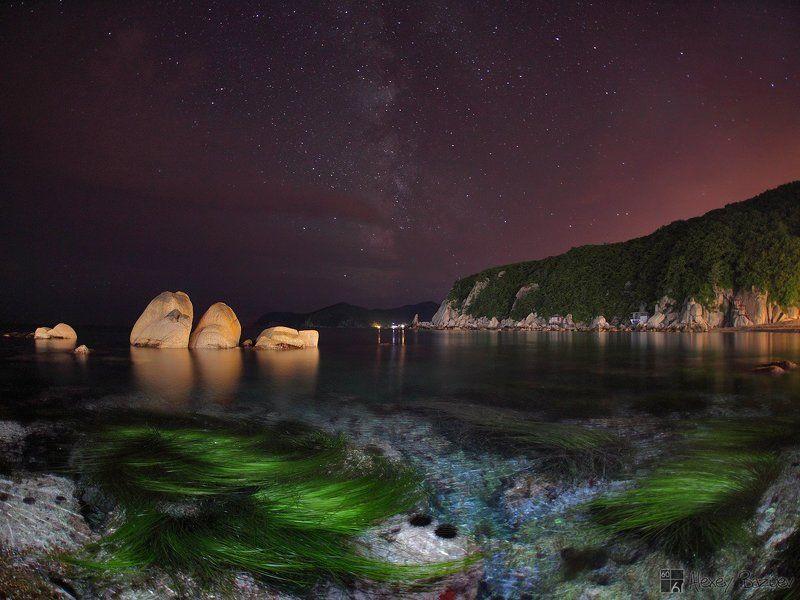 море, ночь, звезды, триозерье, находка, лазурный берег Ночь в Малой Окунёвойphoto preview