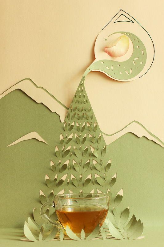 Зеленый чай с лепестками розphoto preview