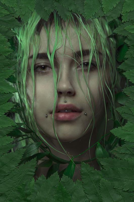 Color, Green, Plants, Portrait, Зеленый, Портрет, Портрет девушки, Растения, Цвет, Цветы I am NATUREphoto preview