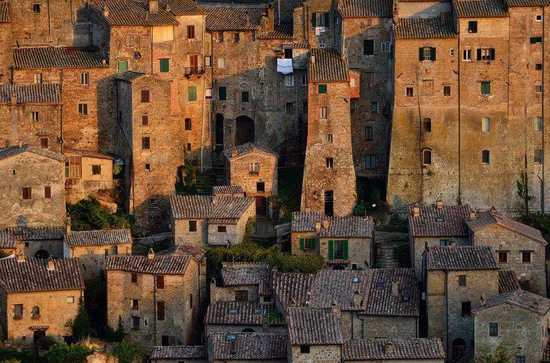 сорано, италия, sorano, italy Сорано - древний город из туфаphoto preview