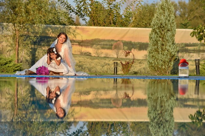 nature, reflection, water, bride Wedding Dayphoto preview