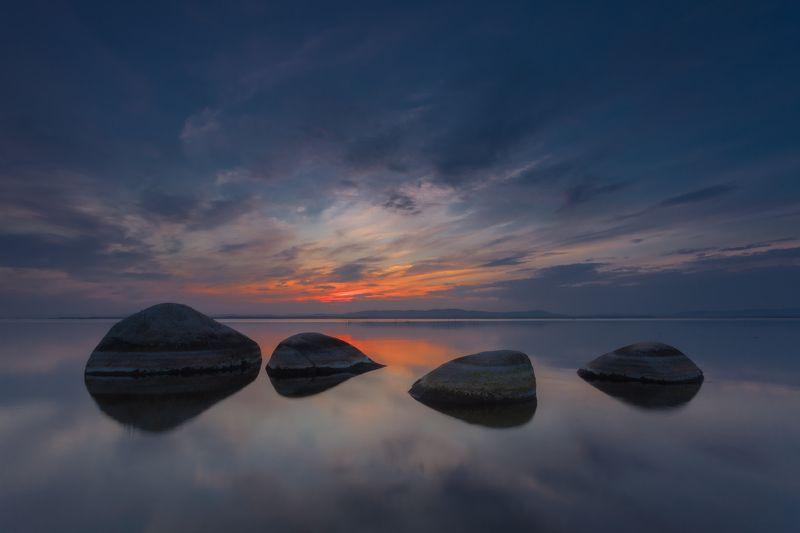 Закат, Иртяш, Камни, Южный урал Камни Счастья озера Иртяшphoto preview