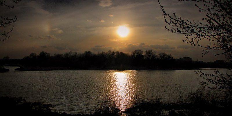 пейзаж,.закат,природа Закат на московских прудах.photo preview
