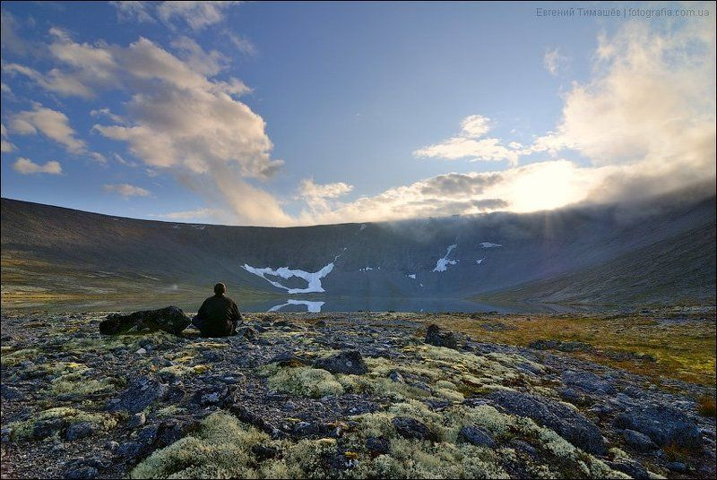 хибины, горы, кольский полуостров, север Закат на озере Академическомphoto preview