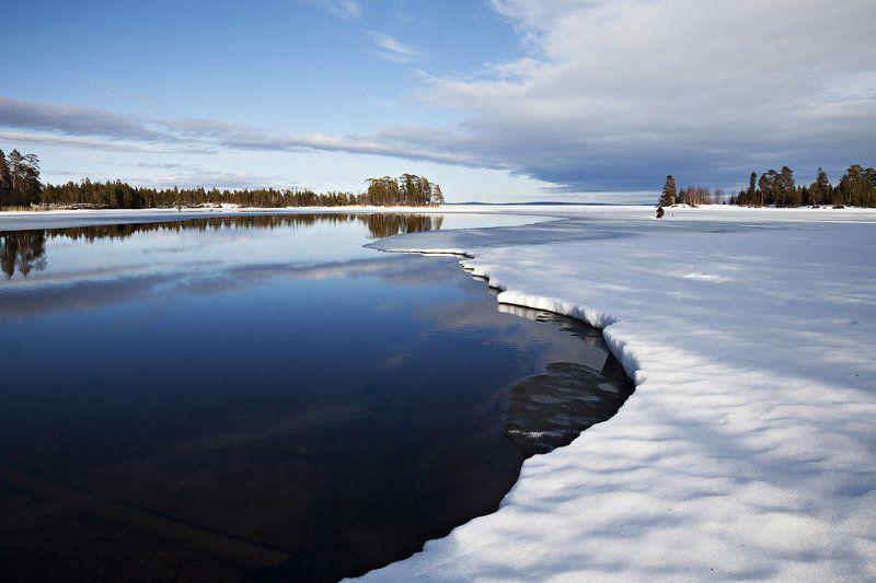 пейзаж,весна,север,река о.Колвица,устье р.Тикшаphoto preview
