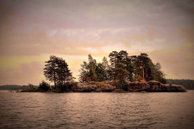остров, вуокса Островок на Вуоксе...photo preview