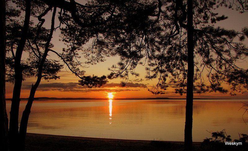 пейзаж,.закат,природа Закат на озере.photo preview