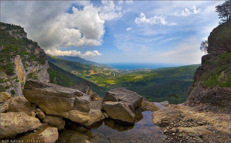 Вид на Ялту с водопада Учан-Суphoto preview