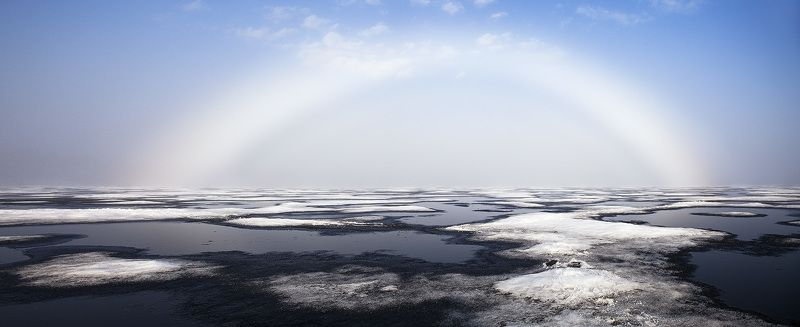 пейзаж,север,озеро,радуга,весна Порталphoto preview