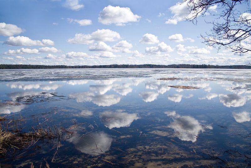 небо, озеро, облако, синева photo preview